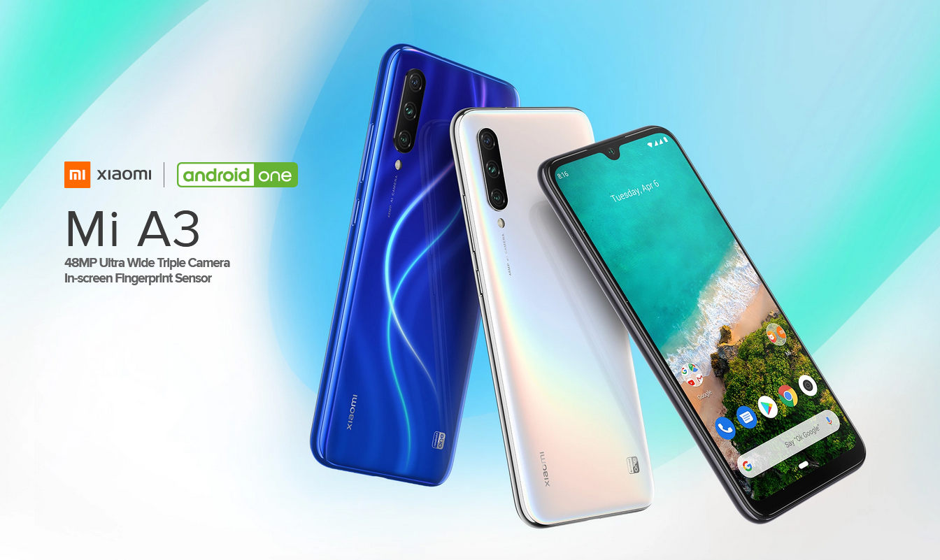Xiaomi Mi A3 with Android One (Android 9 Pie)